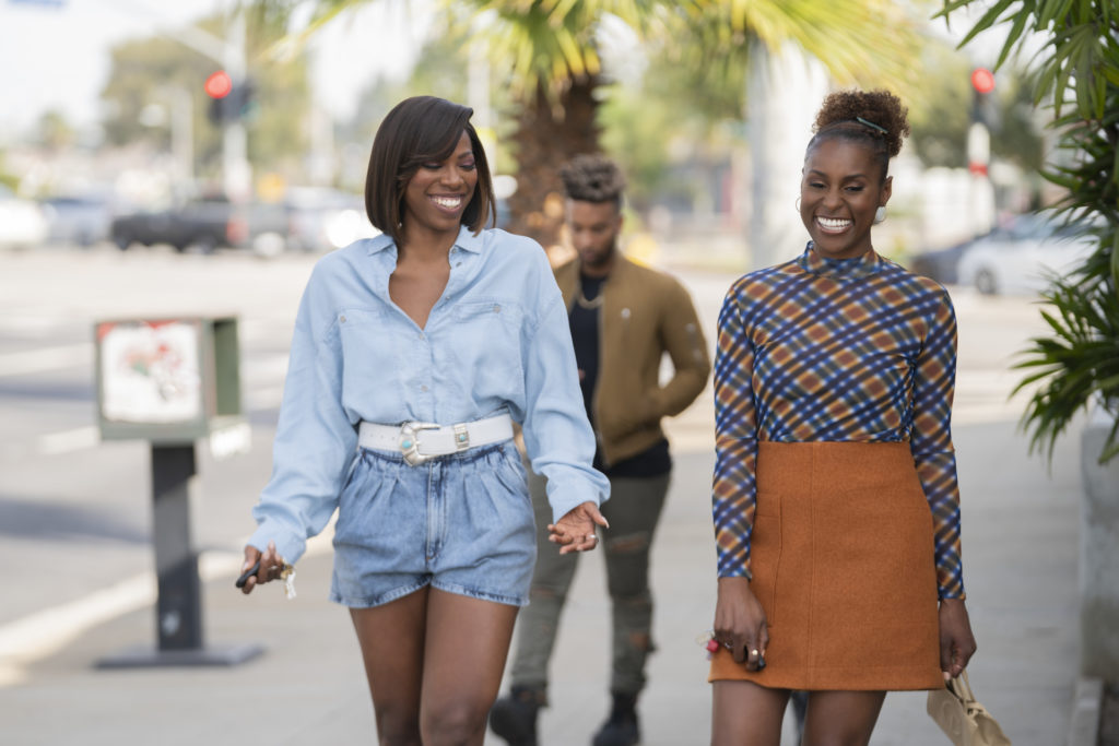 Yvonne Orji + Issa Rae scene during show INSECURE