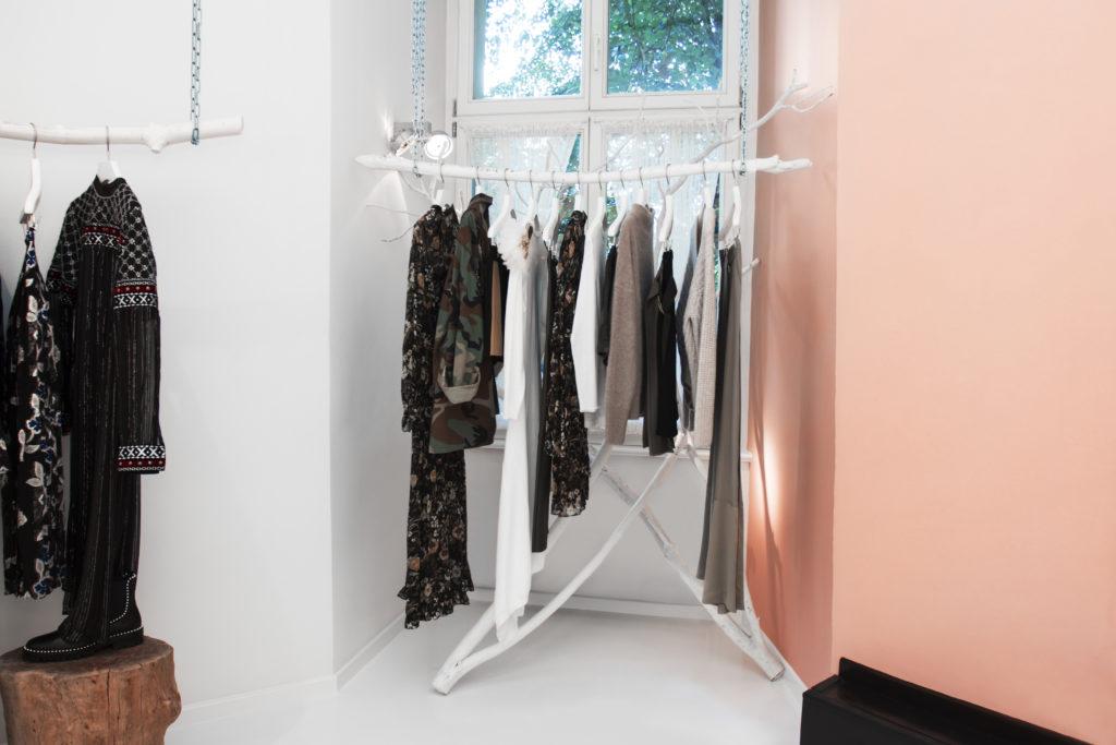 Black Business Owner clothing Rack by Phil Halfmann