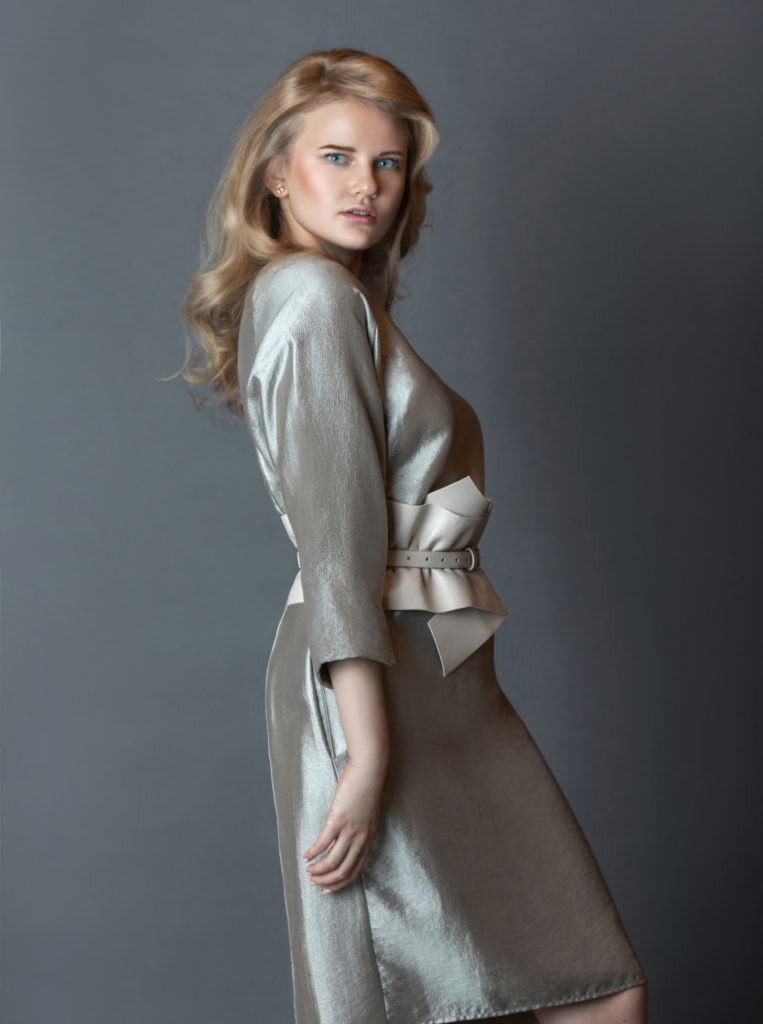 Blonde girl wearing a Silk Dress by Rabens Saloner for Spring 2021 Fashion Trends