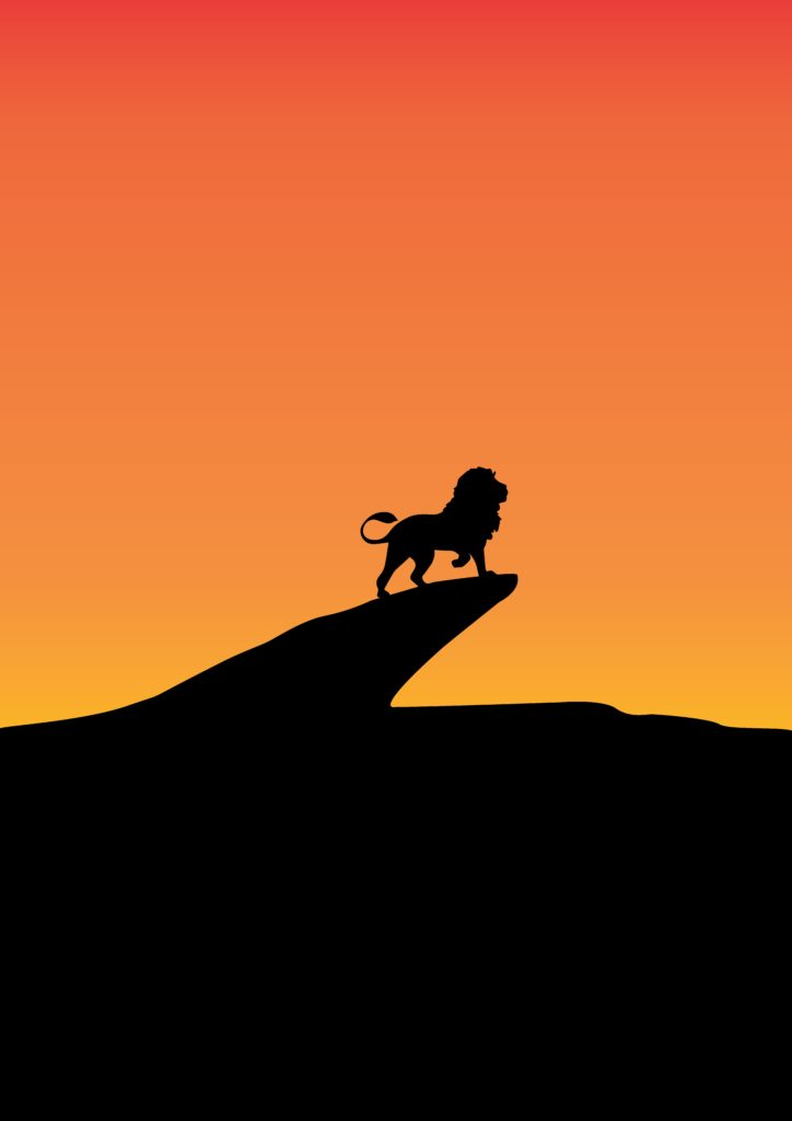 LION SUNSET WILDLIFE ANIMALS KING