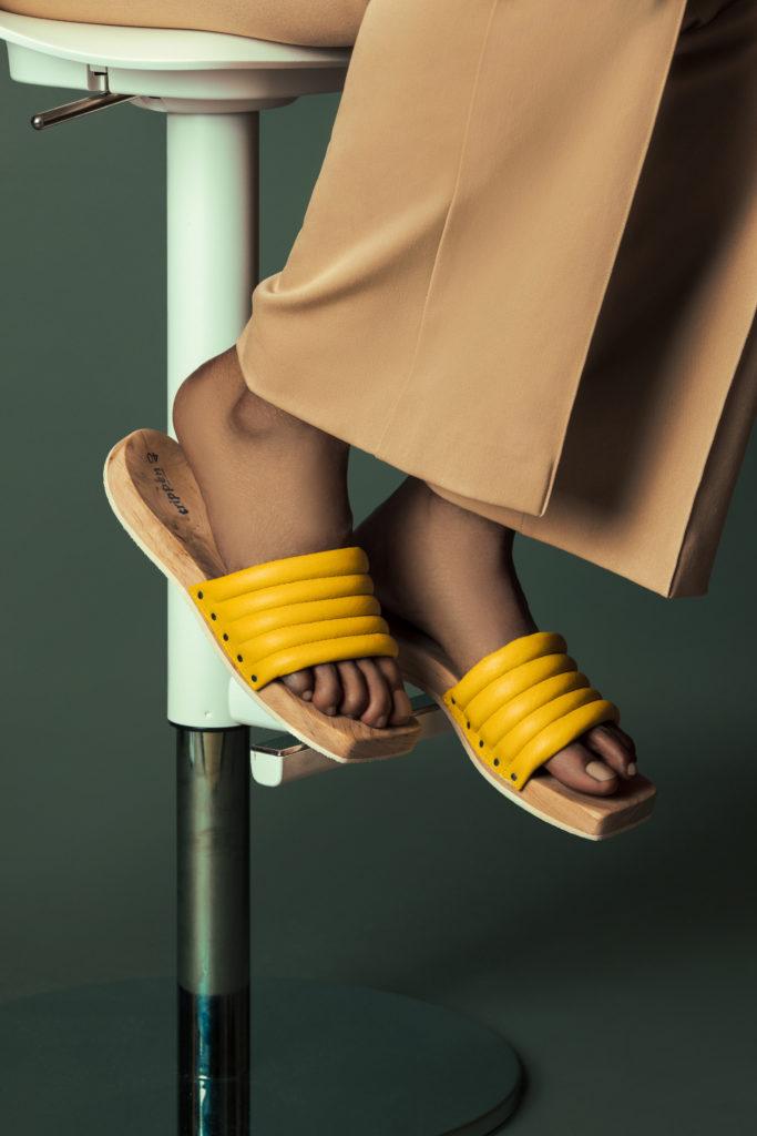 Yellow Summer Sandals for Women
