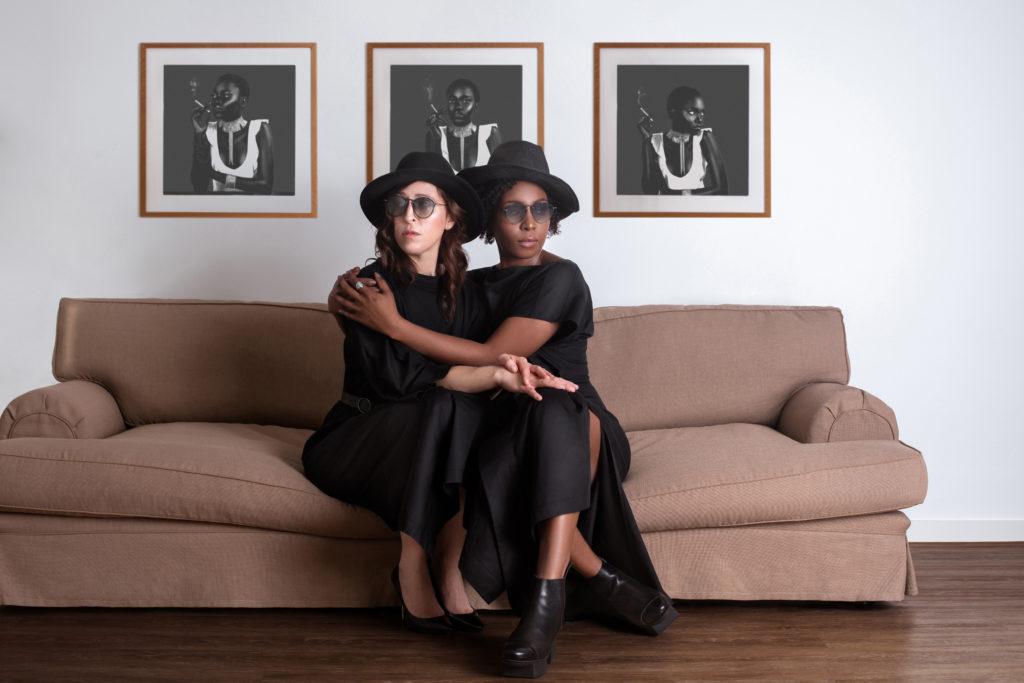 Britta Steffenhagen and Sophia Lenore in Black