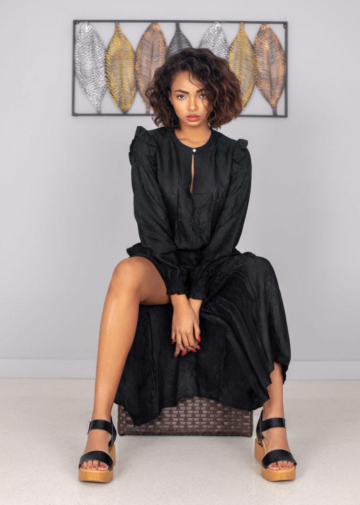A Gentle Spirit In Black Dress