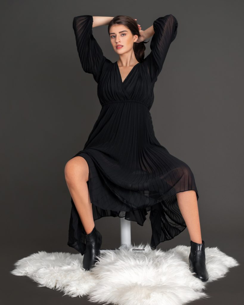 A Gentle Spirit In A Black Dress