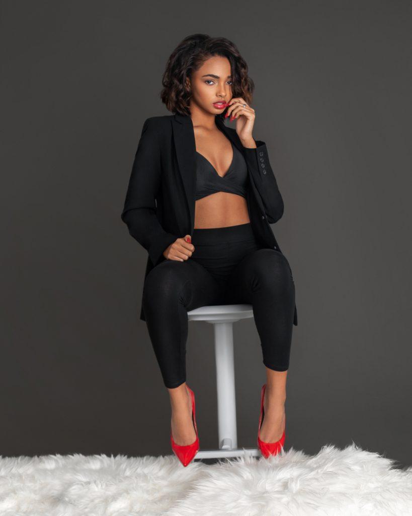 A Gentle Spirit In Sexy Red Heels